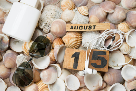 sultry: summer sea beaches and holidays at 15 of august