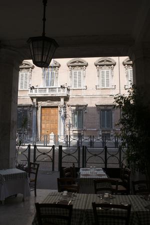 senators: Madama palace in Rome home of the chamber of Senators of the Italian Republic. Main door