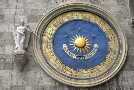 zenith: perpetual calendar of the cathedral of Messina Stock Photo
