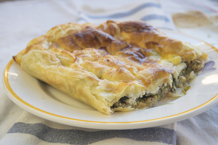 savoury: savoury cake filled with vegetable and cheese