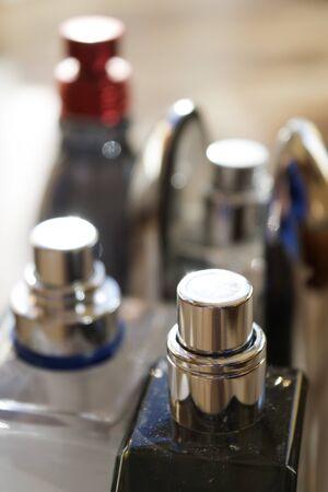 detail of bottles perfumes