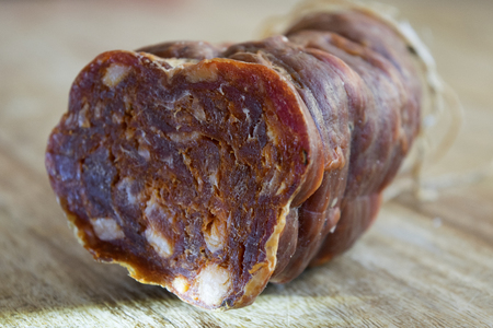 spicy salami made in Calabria and called soppressata