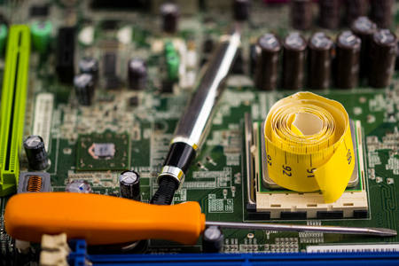 Electronic engineering with a planning stage of a motherboard