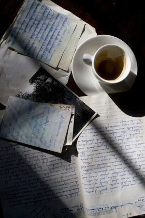 past's impressions through an old diary and crumpled handwritten sheets
