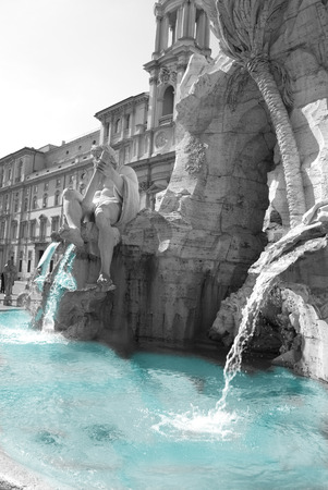 fountain of the neptune at Navona square in Rome.