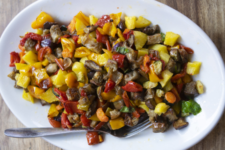 French stewed Ratatouille with assorted vegetable