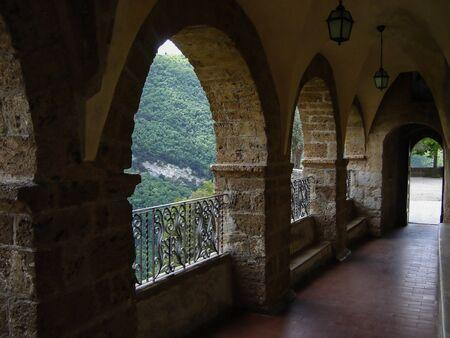 San Benedetto monastery or Sacro Speco Monastery in Subiaco near Rome         Archivio Fotografico