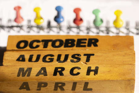 concept of seasons, months of the year and calendar