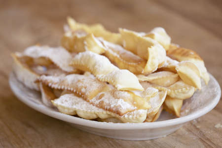 italian carnival sweet called frappe or chiacchiere