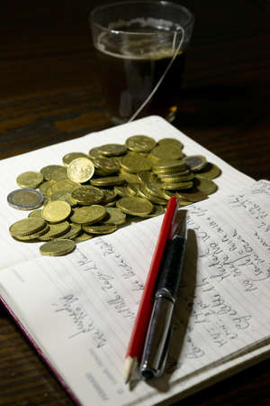 concept of costs taxes and home accounting Stockfoto