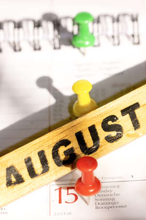 august 15 holiday and summer symbol