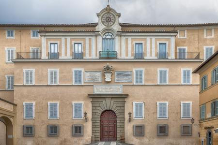 apostolic: Apostolic Palace of Castel Gandolfo, the summer residence of the Popes Editorial