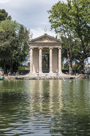 aesculapius: View of the Temple of Aesculapius in Lake Garden