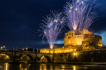 saints peter and paul: The seventh edition of the Pinwheel of Castel SantAngelo on the occasion of the celebration of Saints Peter and Paul, the patron of the city of Rome.