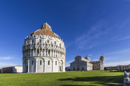 another view of  the Cathedral and tower of Pisa in the Square of Miracles a Pisa