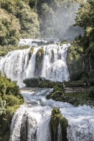 Cascata Delle Marmore near the city of Terni, Umbria, Italy