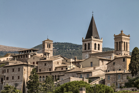 Spello, a small and characteristic city of the Umbria- Italy