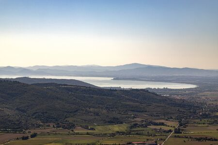 Panorama that can be admired from the Fortezza del Girifalco near Cortona, Arezzo Imagens