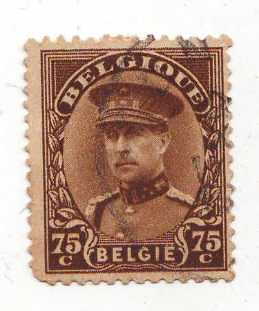 quenching: Belgian postage stamp brown