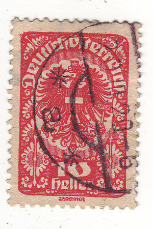 20th century: postage stamp from the early 20th century