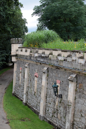 habsburg: the wall of the castle of Habsburg Editorial