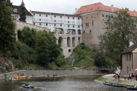 master's: view the town of Czech Krumlov City of masters