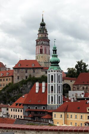 masters: view the town of Czech Krumlov City of masters
