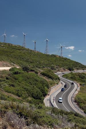 spanish landscapes: wind turbines