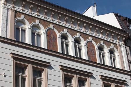 visegrad: Prague, on the streets of Visegrad district Stock Photo