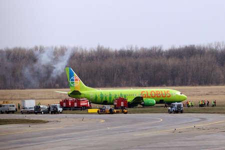 pull out: elimination of aviaperelety at the airport of Rostov-on-don, the Boeing skidded off the runway.