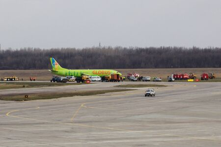 elimination: elimination of aviaperelety at the airport of Rostov-on-don, the Boeing skidded off the runway.