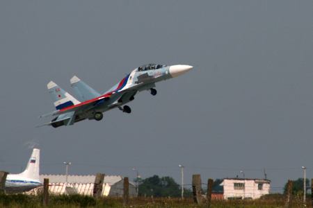 the aircraft performance group dedicated to the anniversary of Yeysk aviation school