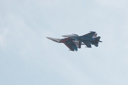 demonstration of aircraft performance group at the celebrations in Rostov on don.