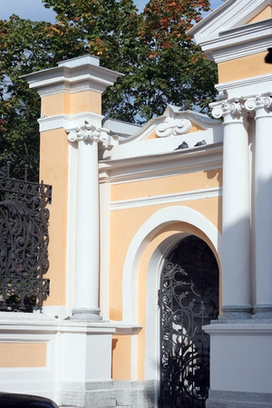 alexander nevsky: St. Petersburg, fragment of the fence of the Church of Alexander Nevsky Lavra