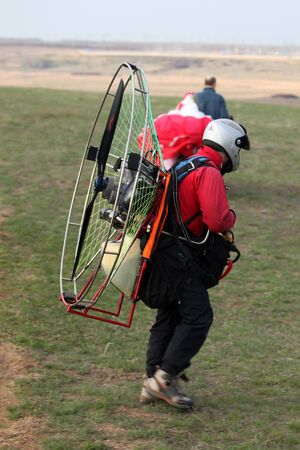 starting position: the output of the paraglider to the starting position