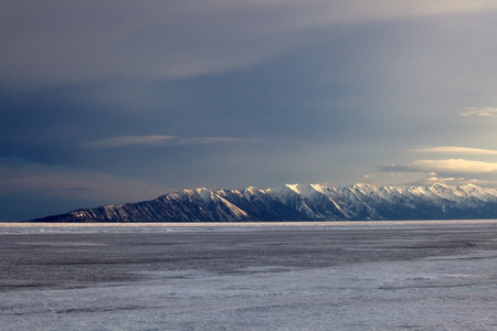edge of the ice: Lake Baikal at the boundary of the Barguzin reserve in early spring