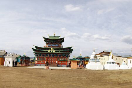 ulan ude: Datsan not far from Ulan-Ude, structures and buildings on the monastery grounds