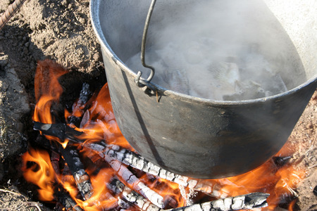 dont drink and drive: of soup cooking in a pot outdoors