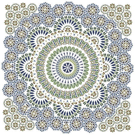 Seamless pattern in islamic style  Illustration