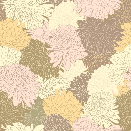 Floral pattern. Background with chrysanthemum. Vector illustration Vector