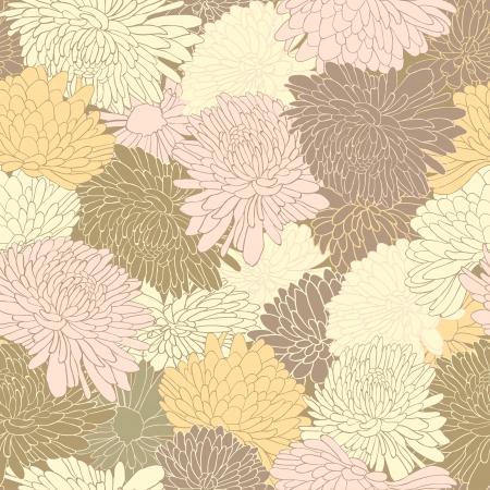 Motif floral. Fond avec chrysanthème. Vector illustration Banque d'images - 24156462