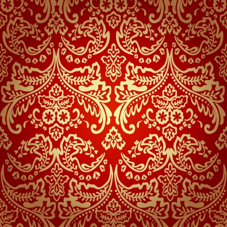 pattern seamless: Damask vintage floral seamless pattern background, vector illustration.
