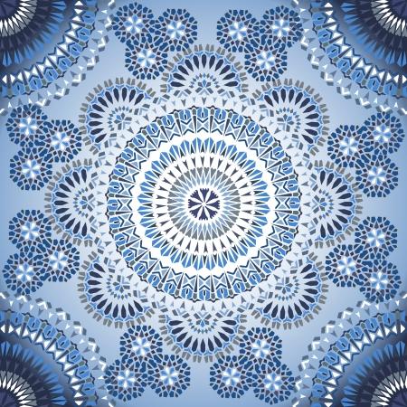 모자이크 민족 스타일에서 장식 다채로운 원활한 패턴입니다. 벡터 배경 일러스트 일러스트