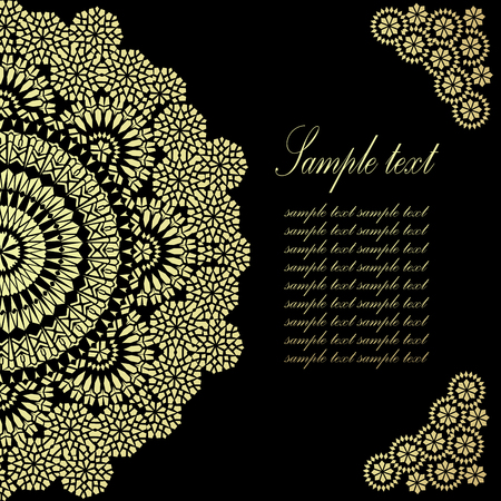 Vintage Background Traditional Ottoman motifs. Vector illustration Vector