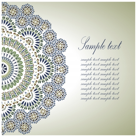 Vintage Background Traditional Ottoman  motifs. Vector  illustration Çizim