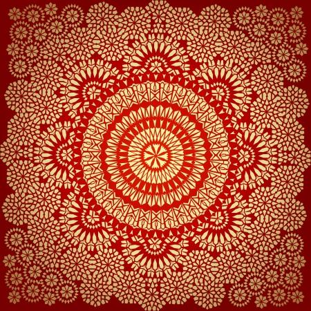 Decoratieve kleurrijke naadloze patroon in mozaïek etnische stijl. Vector achtergrond illustratie Stock Illustratie