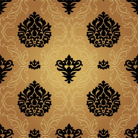 Seamless pattern background. Damask wallpaper. Vector illustration Vector