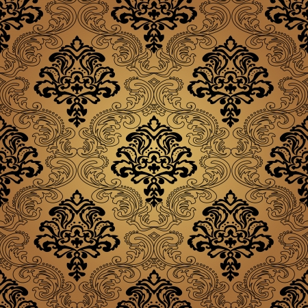 Seamless pattern . Damask wallpaper. Vector illustration Çizim