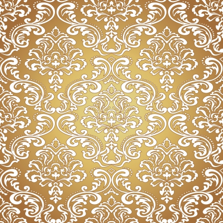 Seamless pattern . Damask wallpaper. Vector illustration Stock Vector - 24249914