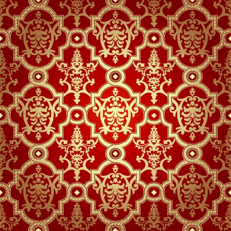 Seamless pattern background. Damask wallpaper. Vector illustration Stock Vector - 24334483